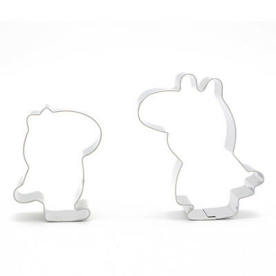 2pcs/Set Cartoon Pig Baking Fondant Pastry Stainless Steel Cookie Cutter Mold