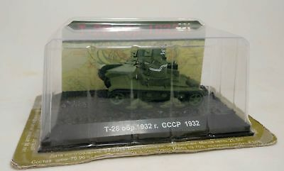 1/72 Diecast T-26 Mod. 1932 - twin-turret tank painted Assembled