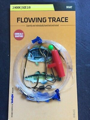 Greys Flowing Trace 2 Hook Size 2/0 - Sea Fishing Rig