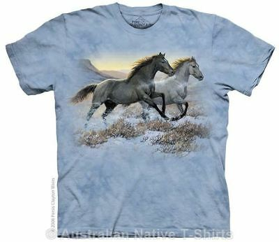 Horses Running Free T-Shirt in Adult Sizes - Horse TShirts by The Mountain Tees