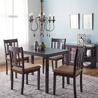 Stratton 5-Piece Dining Set Table Chairs Kitchen Dinette Living Room Wood NEW