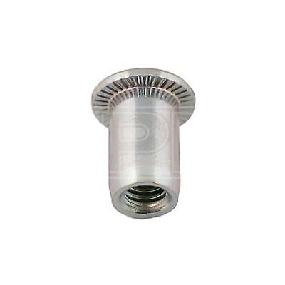Connect Thin Large Flange Threaded Insert - 12mm (32802) - Pack of 50