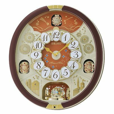 New Seiko Melodies in Motion 2017 Animated Musical Christmas Carol Wall Clock