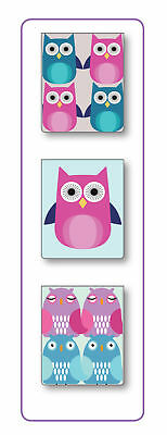 Owl Design Mini Magnetic Reference Bookmark Page Markers - Gift Idea (Pack of 3)