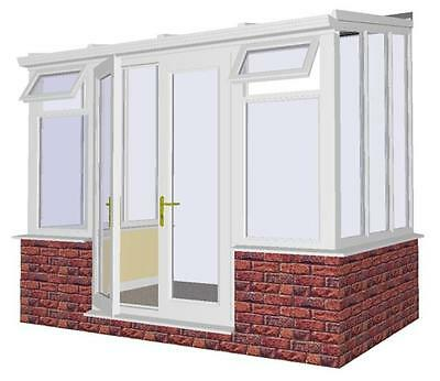 **SUMMER SALE**  Made To Measure 3m x 2.5m Lean-to - White upvc