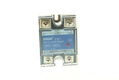 SSR Solid State Relay D4810 10A Input 3-32V DC Load 24-480V ​AC US DC-AC
