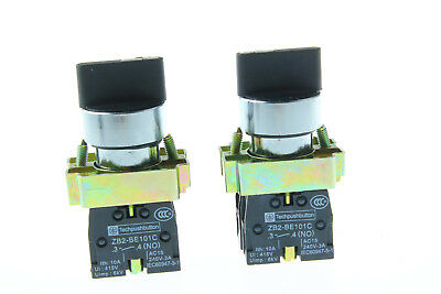 XB2-BD33C 10A Maintained 3 Position 2NO Toggle Select Switch 2pcs
