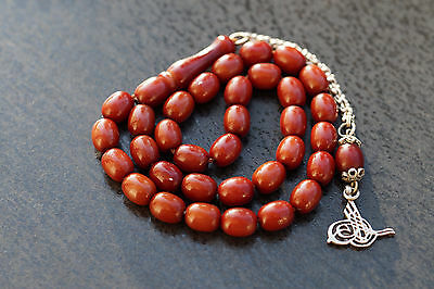 CHERRY BAKELITE GEBETSKETTE PRAYER BEADS ARAB SUBHA Tesbih