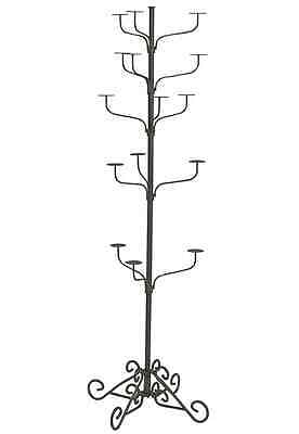 Hat Display Rack Boutique 5-Tier Millinery Floor Stand Retail Custom Smokey Gray