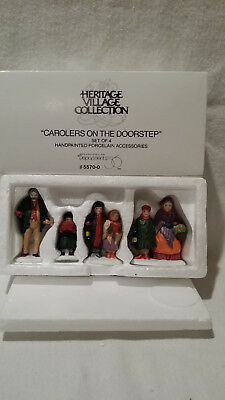 Department 56 Heritage Village Carolers on the Doorstep Accessory - #5570-0