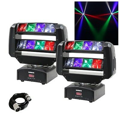 2x Equinox Hot Rod Moving Head DJ Disco Club Party Light Effects & FREE Cable