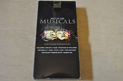Best of the Musicals 6CD Collector's Edition Box Set. 98 Track Various Artists.