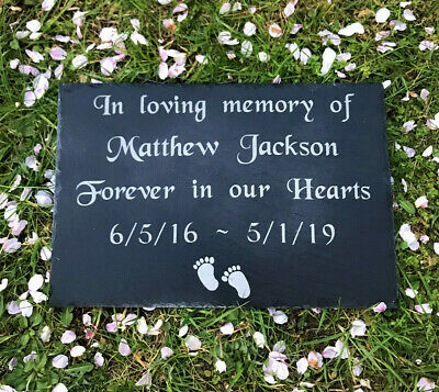 Personalised Large Slate Baby Child Memorial Grave Marker Plaque Headstone