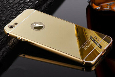GOLD Luxury Aluminum Ultra-thin Mirror Metal Case Cover for iPhone 6 6s 7 8 Plus