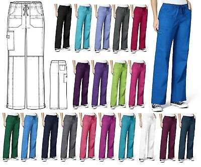 WonderWink Wonder Flex 5108 Faith PETITE Cargo Scrub Pant Choose Size & Color!