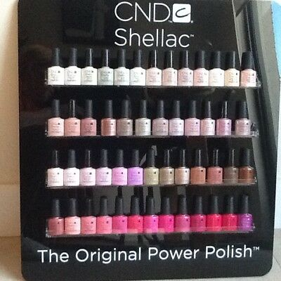 CND shellac polish wall rack display, empty, holds 52 colours excellent cond.