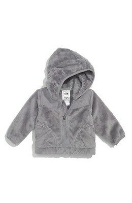 NEW The North Face Infant Baby Boy/Girl Oso Grey Hoodie Fleece Jacket 6-12M NWT