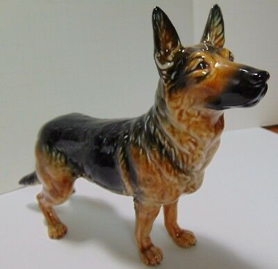 "Vintage Goebel Large German Shepard Dog Porcelain Figurine 9"" Long CH618 Mint"