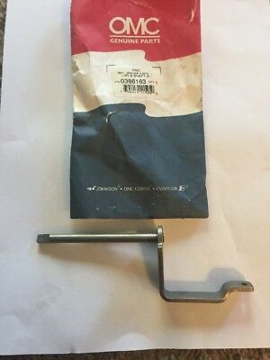 NEW Lever & Shaft Assy OMC Johnson Evinrude 10hp 15hp 1974-1992 386163 0386163