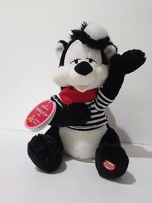 Hallmark Singing Pepe Le Pew Plush 9.5 Inch Looney Tunes Love Valentine French