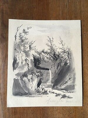Gorgeous, Lot of 9 French drawings / watercolors (XIX)