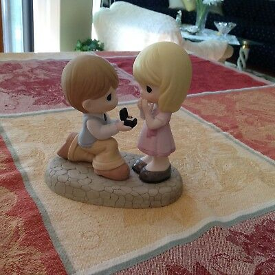 Precious Moments Will You Marry Me? Bisque Porcelain Figurine 133022