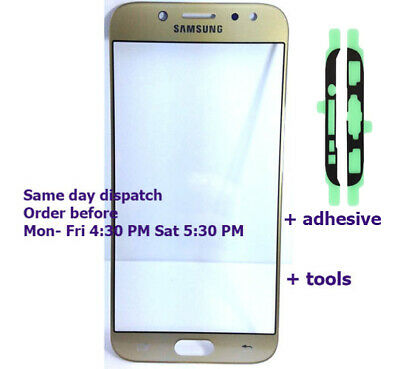 Samsung Galaxy J5 pro 2017 J530 J530f outer glass Touch Screen Gold + adhesive