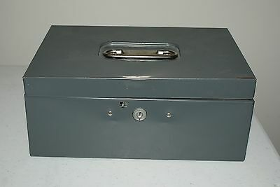 Vintage Steelmaster Gray Lock Box Cash Personal Security Safe Industrial Age