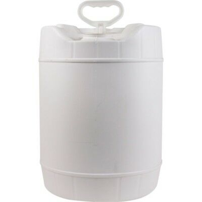 5 Gallon HDPE Stackable Water Container Round White Plastic Pail NEW Rieke ROPAK