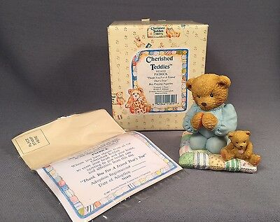 Cherished Teddies- Patrick ' Thank You For A Friend That's True' 1992 Enesco