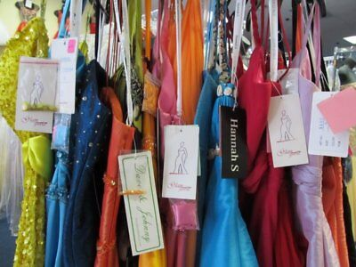 LOT of 50 FORMAL PROM DRESSES SZ 0-20 NWT STORE LIQUIDATION SALE $10K VALUE!!!