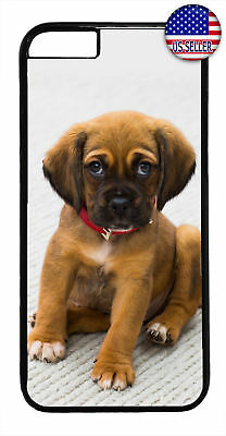 Cute Puppy Dog Red Collar Rubber Case Cover For iPhone 11 Pro Max Xs XR 8 Plus 7