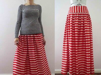 Candy Cane Red White Stripe Midi Skirt Small Buy 3+ items for FREE Postage