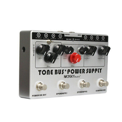 Combined Effect Pedal 3 Effects Pedal + Pedal Power Supply in 1 Unit