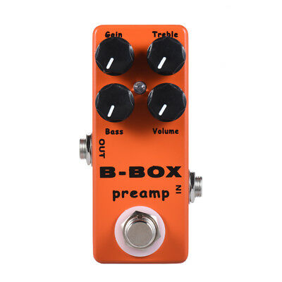 Moskyaudio B-Box Preamp Guitar Effect Pedal Overdrive/Preamp/Booster/True Bypas