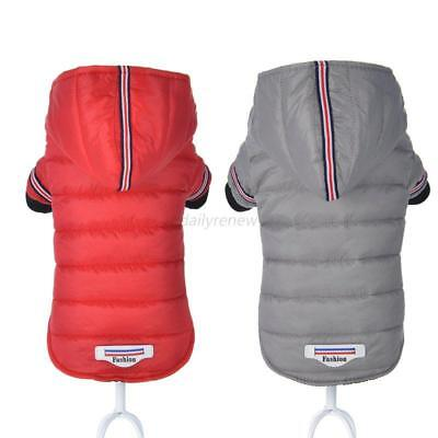 Pet Dog Cat Waterproof Hooded Jacket Jumpsuit Clothes Winter Plus Size Rain Coat