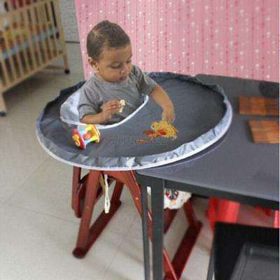 Portable Booster Feeding High Chair Seat Tray Eat Placemat Safe for Baby/Toddler