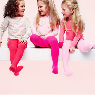 Baby Girls Kids Toddler Cotton Soft Warm Solid Tights Stockings Pantyhose Socks