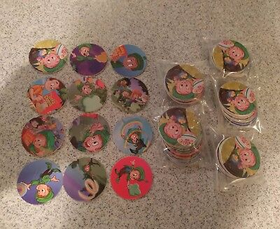 1995 Full set of 12 Lucky Charms General Mills Pogs mint condition