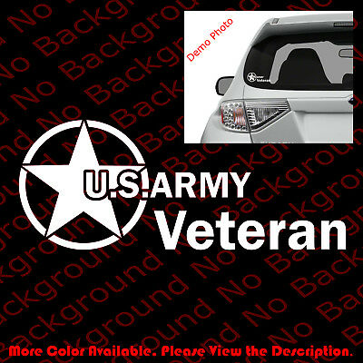 US ARMY VETERAN/Car/Window/laptop Vinyl Decal Sticker Die Cut Troops Elite AY007