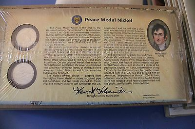 Us Mint Official 2004 Peace Medal Nickel New In Plastic