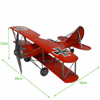 WWI Retro Vintage Red Baron Airplane Aircraft Fokker Decoration Model Toy