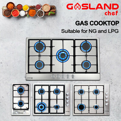 GASLAND chef Gas Cooktop NG LPG Gas Hob Stainless Steel Cook Top