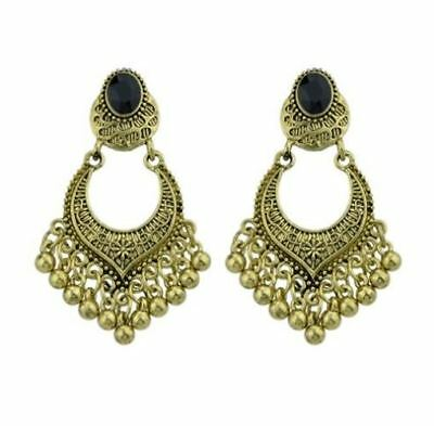 Women Vintage Style Geometric Pattern Gold And Silver Color Earrings B628