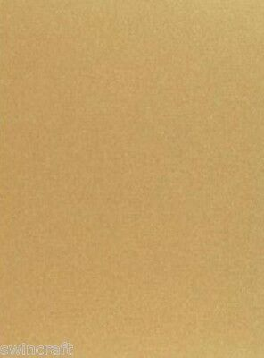 5 sheets Silky A4 250gsm Double Sided Shimmer Card GOLD