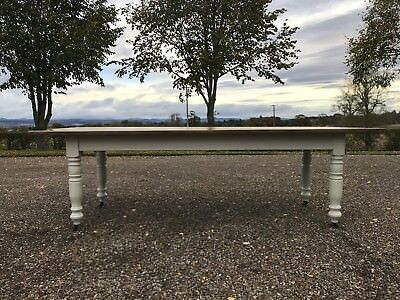 Substantial antique refectory dining table.
