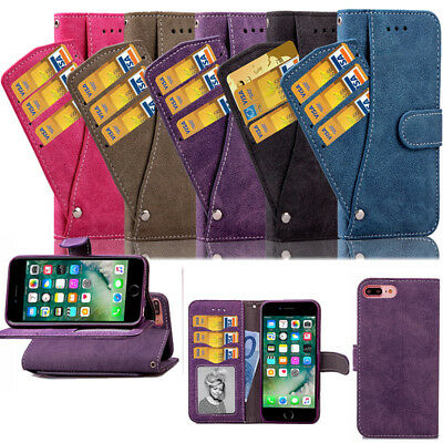 Leather Wallet Rotate Card Slots Holder Flip Stand Case Cover For Iphone 6S Plus