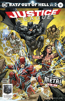Justice League #32 (2017) 1St Printing Variant Cover Dc Universe Rebirth Metal
