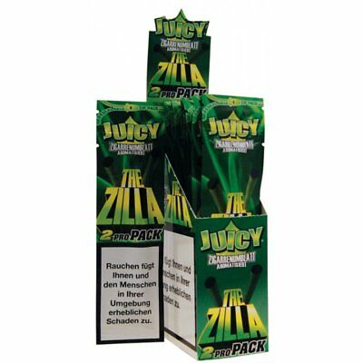 Full Box (25 x 2) JUICY JAYS BLUNT Paper The ZILLA Double Wraps Rolling Papers