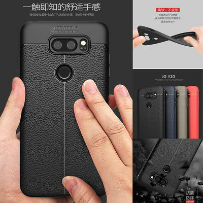 For LG G6/V30/Q6 Luxury Protection Shockproof Matte PU Leather Soft Back Case